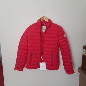women moncler jacket coat red winter warm